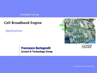 Cell Broadband Engine Applications