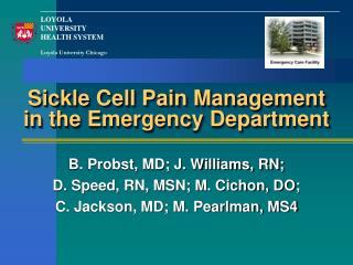 Sickle Cell Pain Management in the Emergency Department