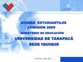 UNIVERSIDAD DE TARAPACÁ SEDE IQUIQUE