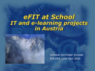 eFIT at School  IT and e-learning projects in Austria