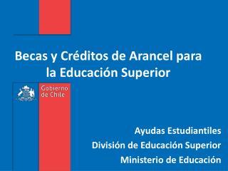 Becas y Créditos de Arancel para la Educación Superior