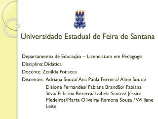 Universidade Estadual de Feira de Santana
