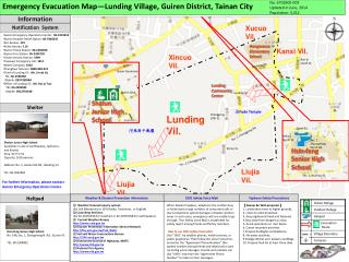 Emergency Evacuation Map—Lunding Village, Guiren District, Tainan City