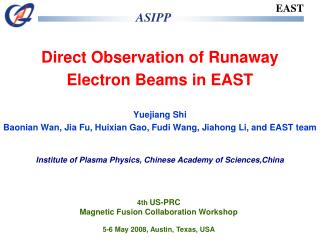 Direct Observation of Runaway Electron Beams in EAST