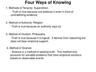 Four Ways of Knowing