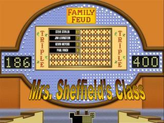 Mrs. Sheffield's Class