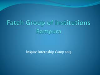 Fateh Group  of  Institutions  Rampura