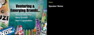 Venturing &  Emerging Brands…