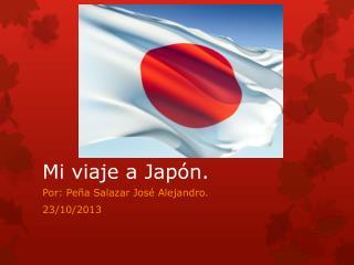 Mi viaje a Jap�n.