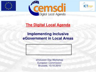 The Digital Local Agenda Implementing Inclusive eGovernment in Local Areas