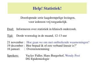 Help Statistiek