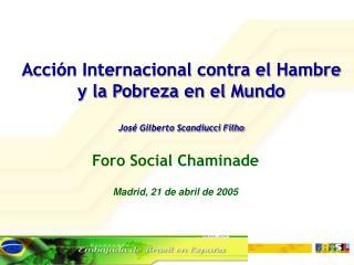 Foro Social Chaminade Madrid, 21 de abril de 2005