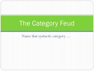 The Category Feud