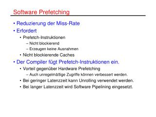 Software Prefetching