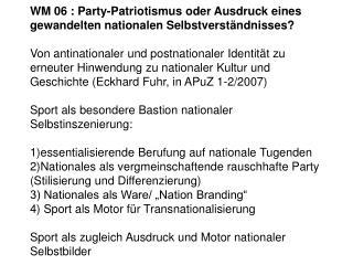 Kontexte eines pluraleren Umgangs mit dem Nationalen in Deutschland und in Europa