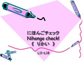 にほんごチェック  Nihongo check!  《  りかい  》