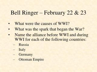 Bell Ringer – February 22 & 23