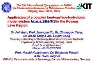 Dr.  Fei Yuan , Prof. Zhongbo Yu, Dr. Chuanguo Yang, Dr. Xiaoli Yang & Ms. Luyan Gong