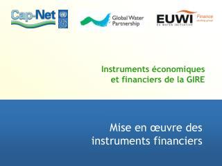 Instruments économiques  et financiers de la GIRE