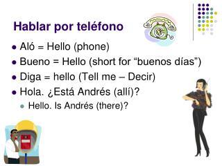 Hablar por tel éfono