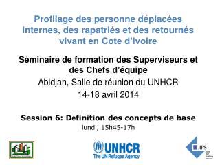 Profilage des personne déplacées internes, des rapatriés et des retournés vivant en Cote d'Ivoire