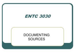ENTC 3030