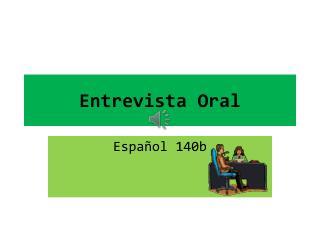 Entrevista Oral