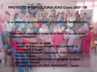 El ALUMNADO de los CENTROS EDUCATIVOS  MARROQUÍES