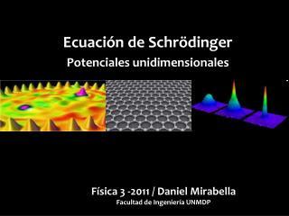 Ecuación de Schrödinger Potenciales unidimensionales