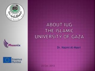 About IUG The Islamic University of Gaza