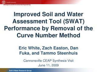 Improved Soil and Water Assessment Tool (SWAT) Performance by Removal of the Curve Number Method