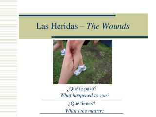 Las Heridas –  The Wounds