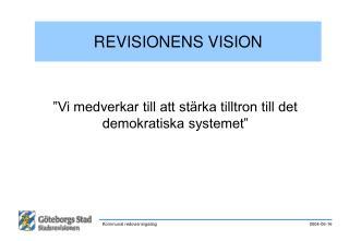 REVISIONENS VISION