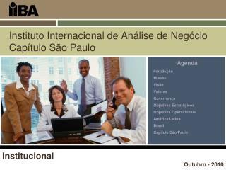 Instituto Internacional de An lise de Neg cio Cap tulo S o Paulo