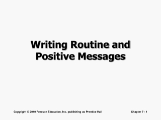 Writing Routine and Positive Messages