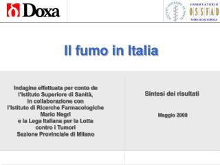 Il fumo in Italia