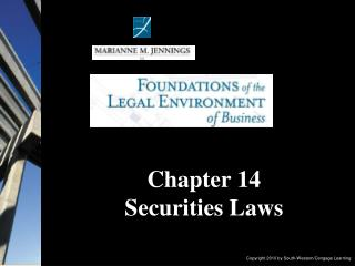 Chapter 14  Securities Laws