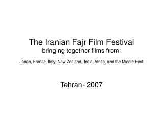 Tehran- 2007