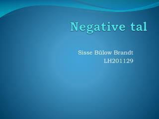 Negative tal