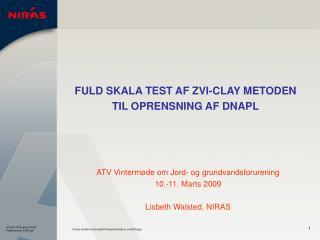 FULD SKALA TEST AF ZVI-CLAY METODEN TIL OPRENSNING AF DNAPL