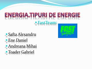 Energia.Tipuri  de energie