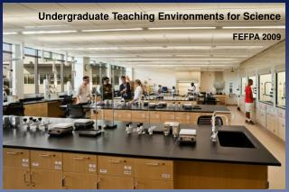 Undergraduate Teaching Environments for Science  FEFPA 2009