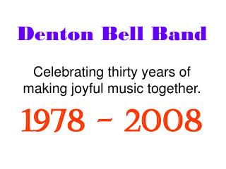 Denton Bell Band