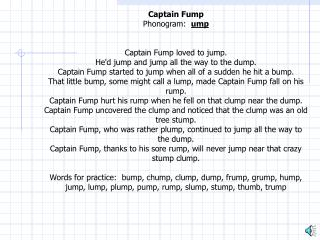 Captain Fump Narration
