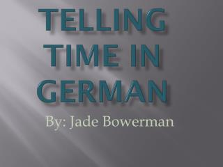 Telling Time in German