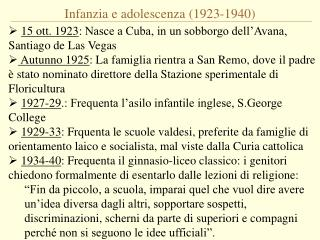 Infanzia e adolescenza (1923-1940)