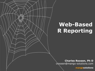 Web-Based   R Reporting