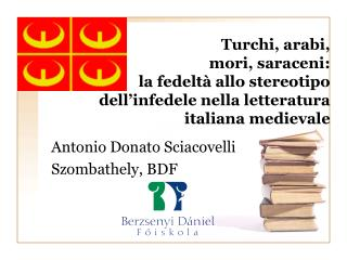 Antonio Donato Sciacovelli Szombathely, BDF