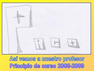 Así vemos a nuestro profesor Principio de curso 2008-2009