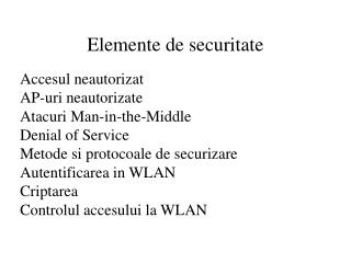 Elemente de securitate
